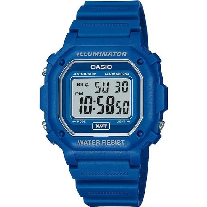 Casio Digital Illuminator Blue Resin Strap Watch at Argos