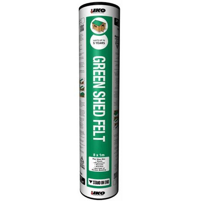 Shed Roofing Felt - Green Finish 8x1m