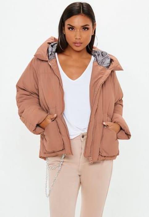 Mocha Hooded Ultimate Puffer Jacket