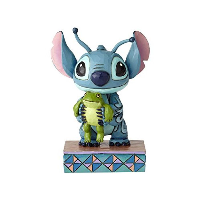 Disney Traditions Strange Life Forms Stitch with Frog Figurine, Resin,
