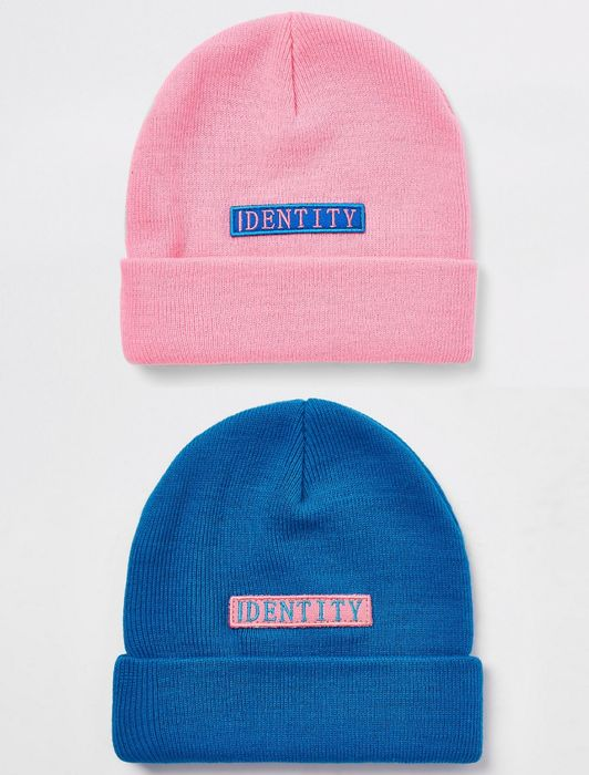 River Island Be Inclusive Identity Beanie Hat