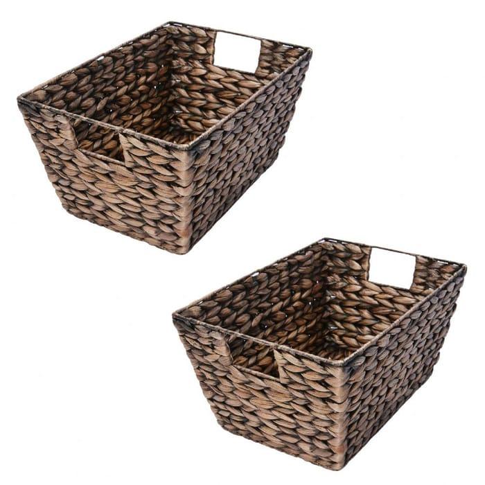 B Organised Conical Storage Basket 2 PACK Stackable Organizer - Shelf Basket