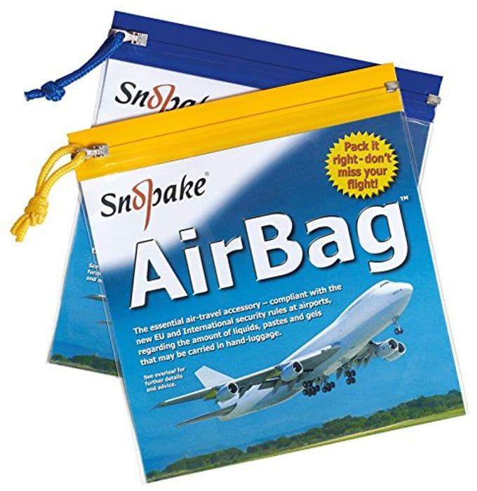 Pack of 5 - Flight Liquid Zip Bags