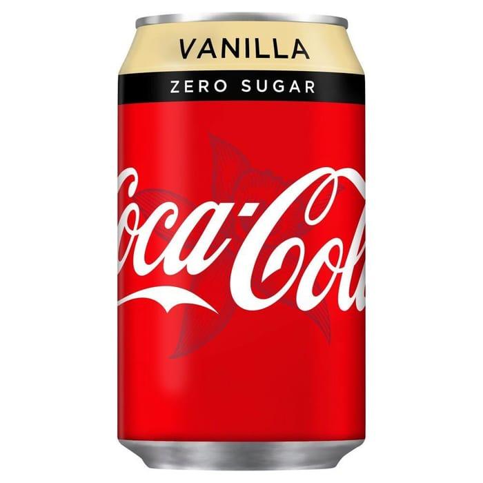 TODAY ONLY Coca Cola Zero Vanilla 330ml