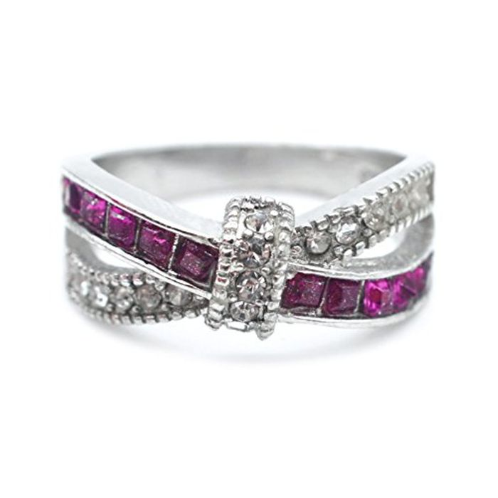 Purple Crossover Ring FREE DELIVERY
