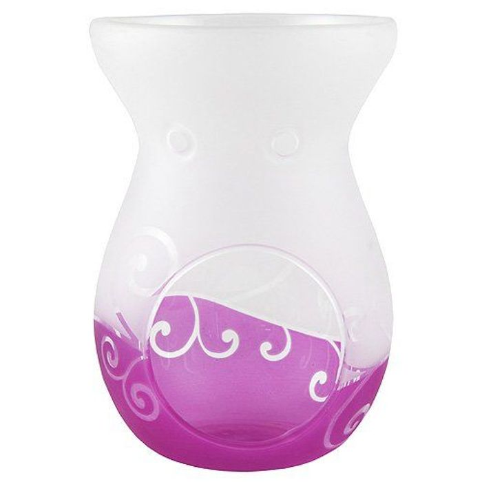 Yankee Candle Purple Glass Wax Melts Burner