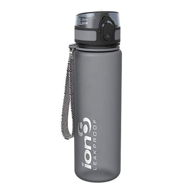Ion8 Leak Proof Slim Water Bottle, BPA Free, 500ml / 18oz