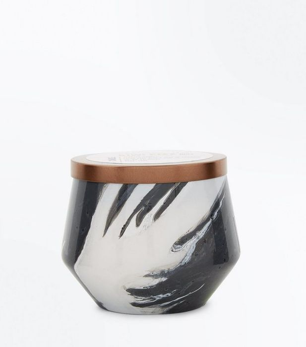 Dark Grey Marble Effect Candle SAVE 92%