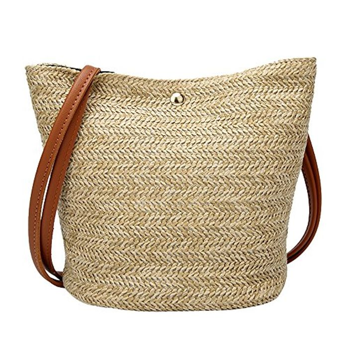Hot Sale !!! Large Straw Bags for Women Casual Shoulder Bag