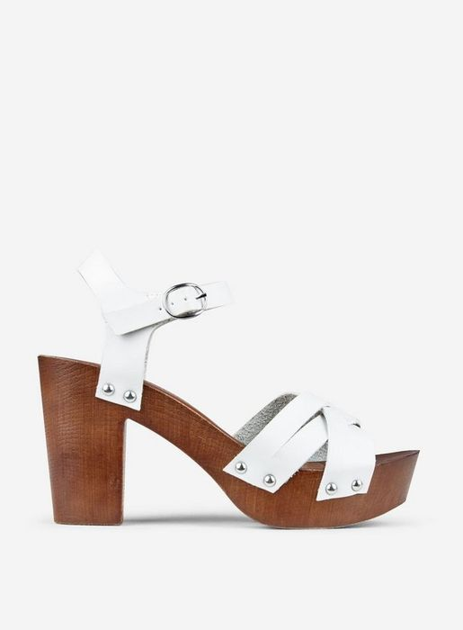 White Sequoia 70'S Clog Sandals Was £35.00 Now £15.00