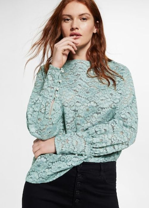 Women's Lace Panel Blouse - SAVE £40