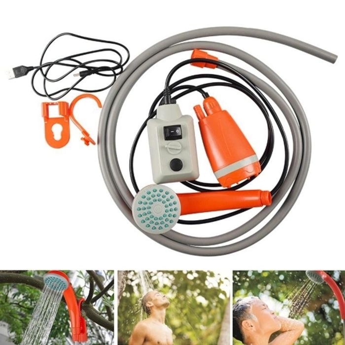 Portable Outdoor USB Charging Shower