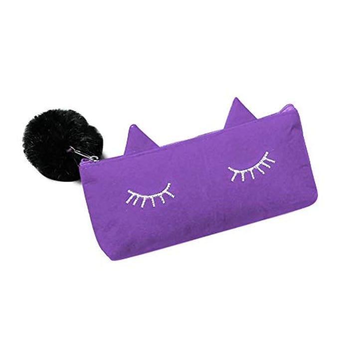 Little Finger Lovely Cat Eye Eyelashes Pencil Case Only £1.57 Delivered
