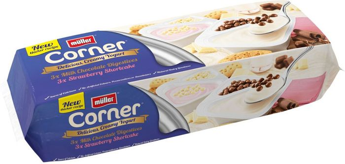 Muller Corner Chocolate Digestive and Strawberry Shortcake Yogurts - Save £1.50