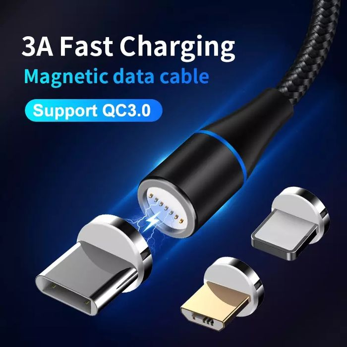 Magnetic Cable Lightening Pin and USB C