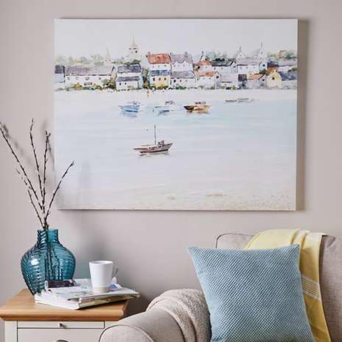 75% Off Coastal Scene Oversized Canvas