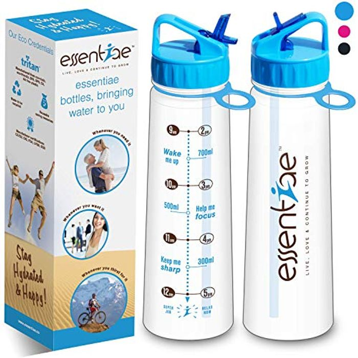 Water Bottle with Straw and times Help Drink Water Easily