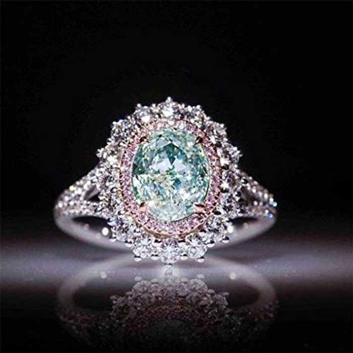 SIZE 6 to 10 Crystal Ring Elegant Inlaid with Imitation Diamond (Free Delivery)