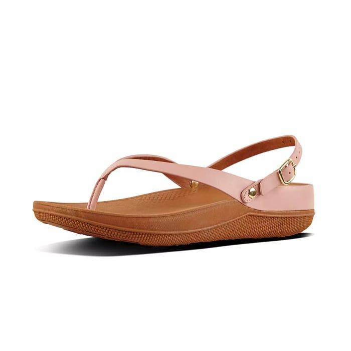 Women's Dusky Pink Flip Leather Sandals - SAVE £13