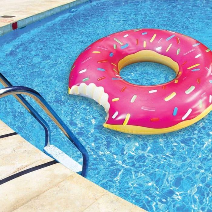 Large Strawberry Donut Pool Float