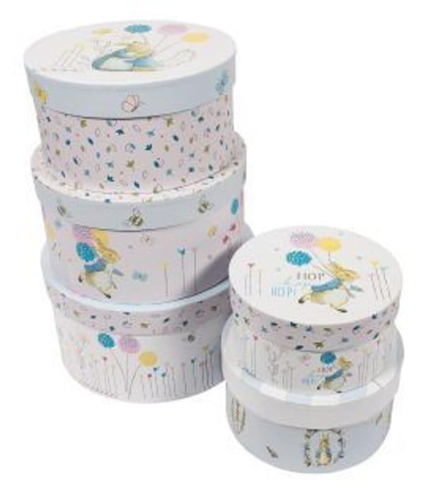 Beatrix Potter: Set of 5 Peter Rabbit Storage Boxes