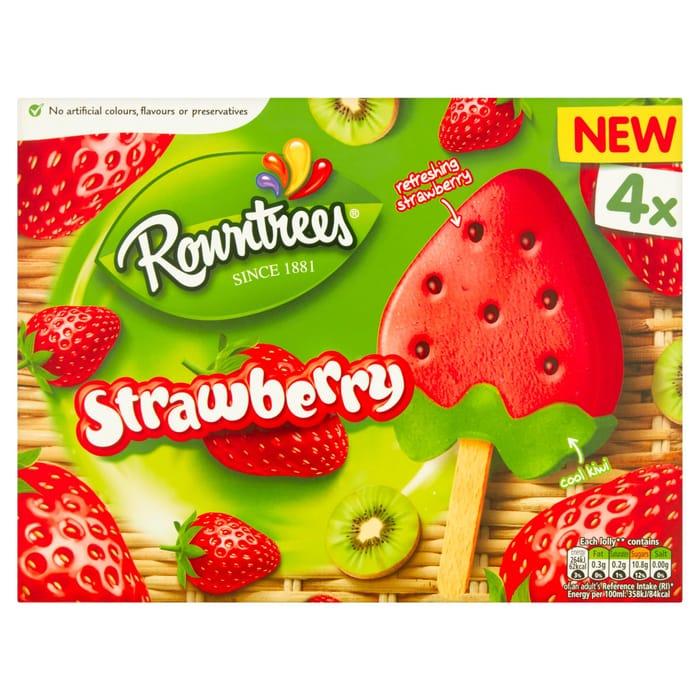 Rowntrees Strawberry 4 X 73ml Half Price