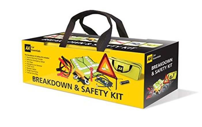 AA Breakdown & Safety Kit with Footpump