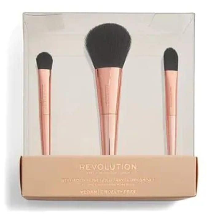 Revolution Rose Gold Travel Brush Set