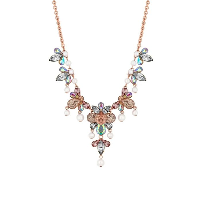 Red Herring - Rose Gold Plated Multi Petal Necklace Now £4.80 at Debenhams