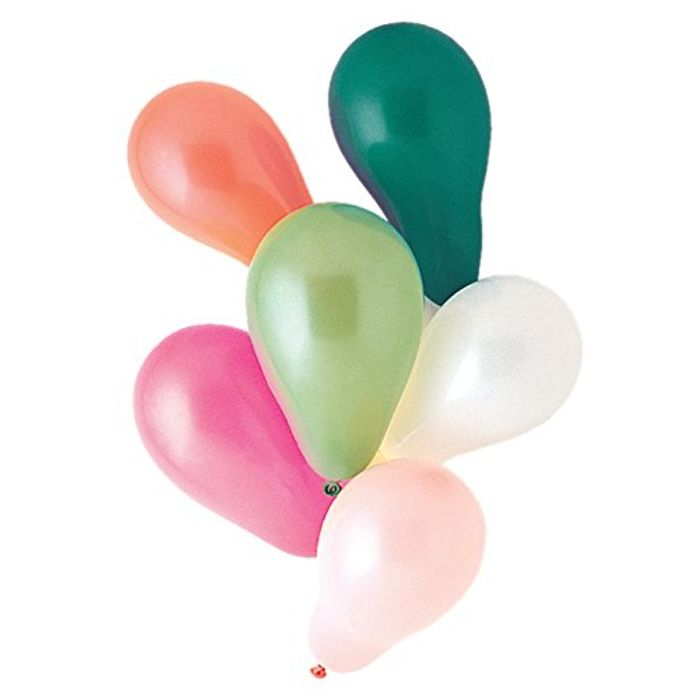 Best Price Latex Assorted Colour Party Balloons, Pack of 25