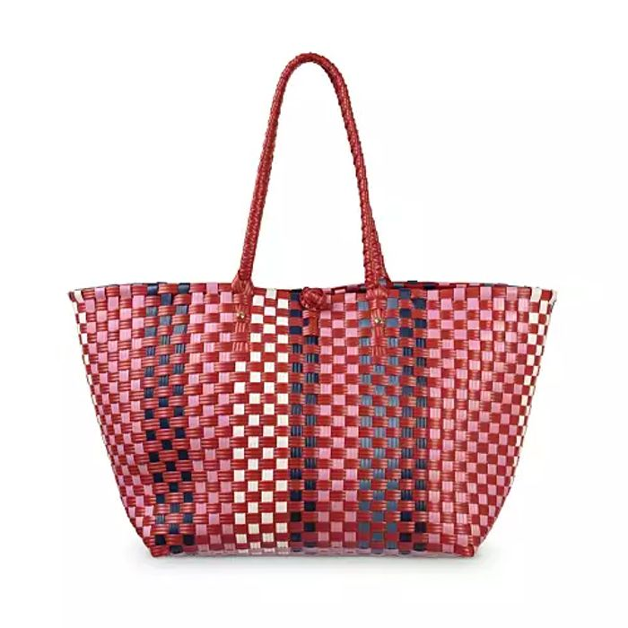 Alora Woven Red Market Tote Bag Down From £45 to £16