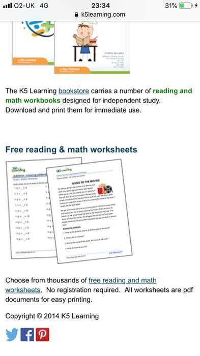 Free Primary School Worksheets | LatestDeals.co.uk