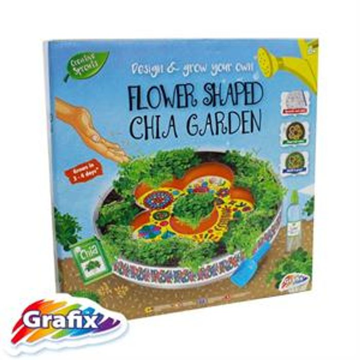 Design & Grow Your Own Flower Shaped Chia Garden