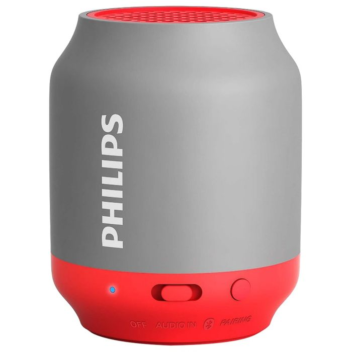 Philips Bluetooth Speaker - Grey & Red and Black
