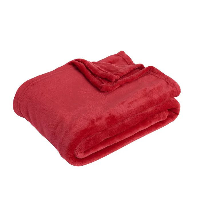 Wilko Red Ultrasoft Throw 120 X 150cm Other Colours Available Free C&C