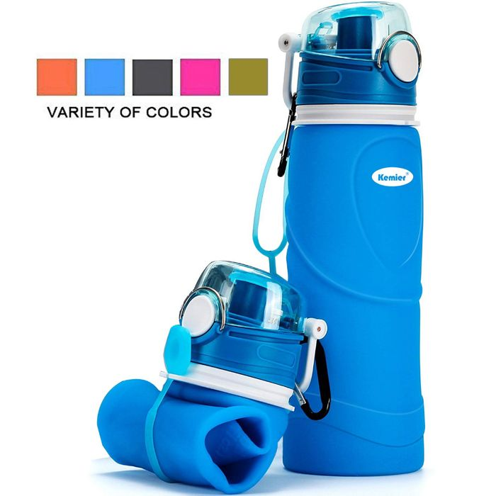 Deal Stack - Collapsible Silicone Water Bottles - 8% off + Extra 40%