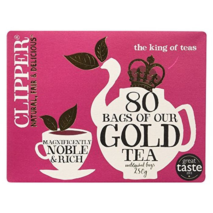 Clipper Gold 80 Teabags 250 G (Pack of 6) ONLY £4.99!