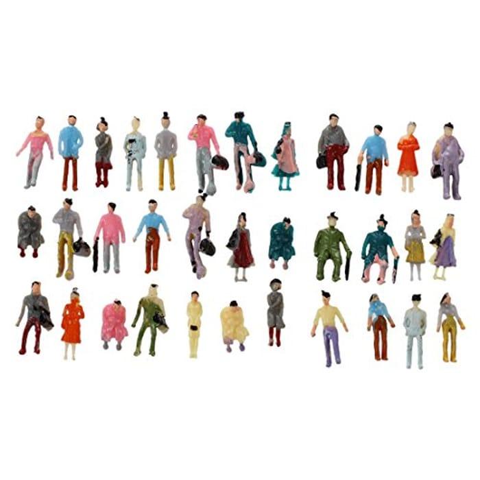 100pcs Painted Model Train Set Passenger People Figures Scale 1:150