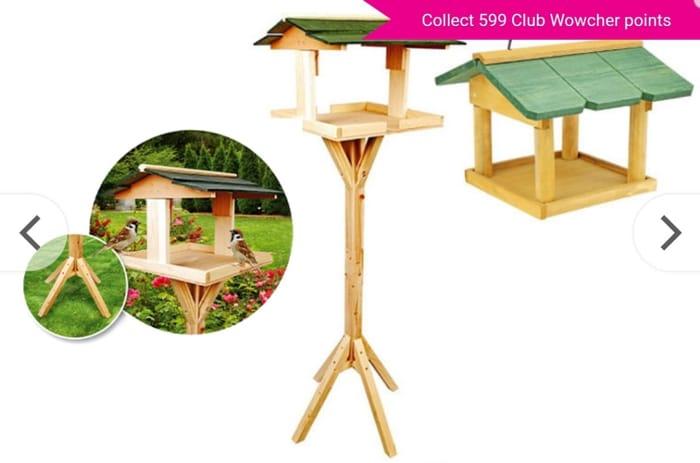 Hanging or Freestanding Wooden Bird Table