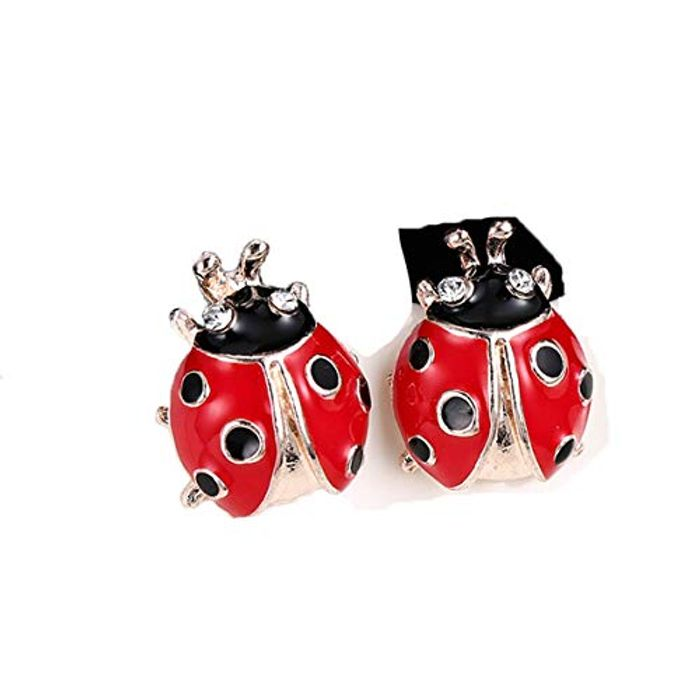 Winwinfly Cute Ladybird Stud Earrings FREE DELIVERY