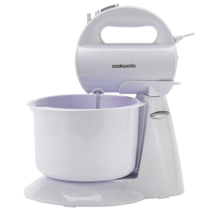 Cookworks Hand and Stand Mixer - White Only £9.99