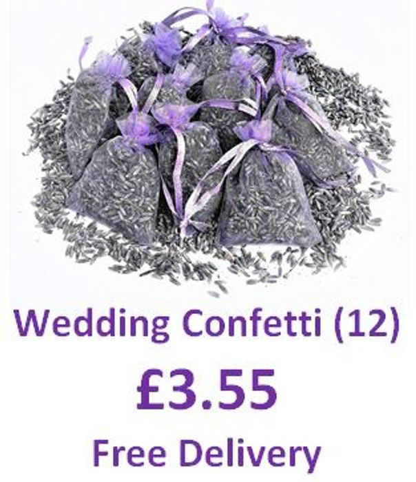 Real Lavender WEDDING CONFETTI (12 Bags) FREE DELIVERY