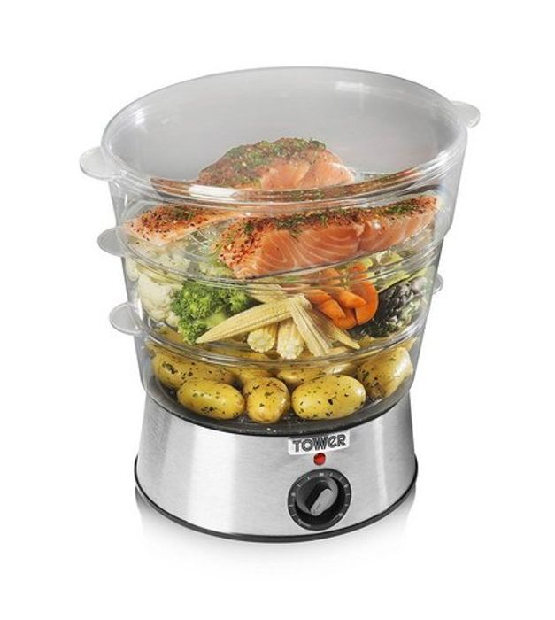 Tower 3-Tier Stainless Steel Steamer - 64% Off