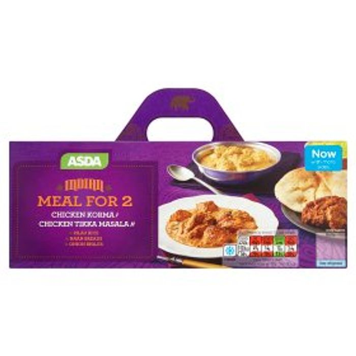 ASDA Indian Chicken Korma and Chicken Tikka Masala Meal for 2