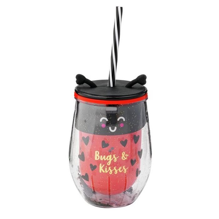 Argos Home Ladybird Drinks Cup with Straw