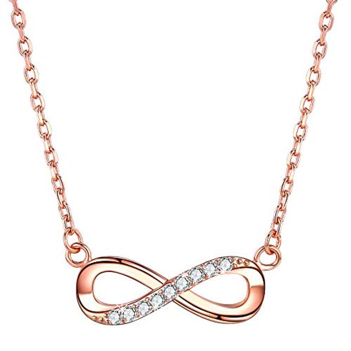 Infinity Pendant Necklace for Women 925 Sterling Silver Heart Necklace