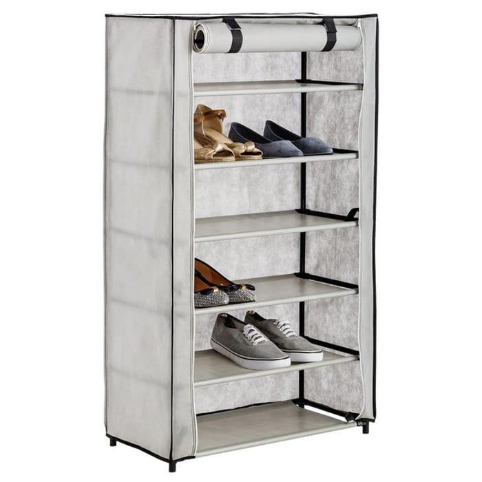HALF PRICE! Argos Home Metal & Canvas Shoe Wardrobe