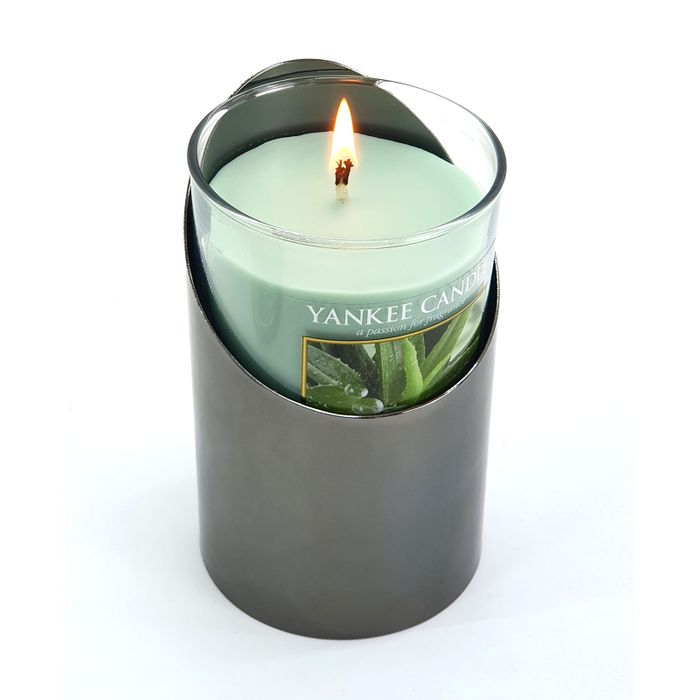 Yankee Candle Aloe Vera Pillar Candle and Holder