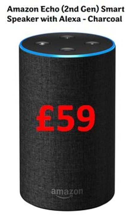 Cheaper than Amazon! Amazon Echo (2nd Gen) Smart Speaker with Alexa