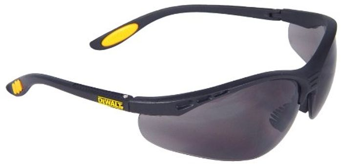 DeWalt Reinforcer Smoke Ploycarbon Safety Glasses - Black/Smoke, One Size